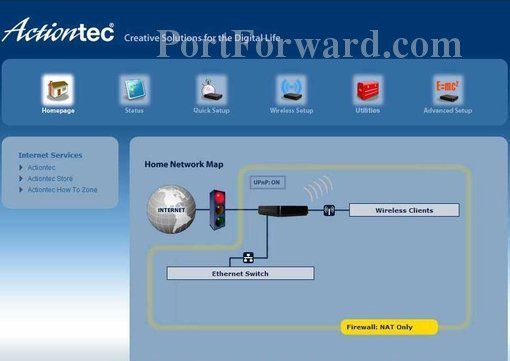 How to Forward Ports in a Actiontec GT784WN Router