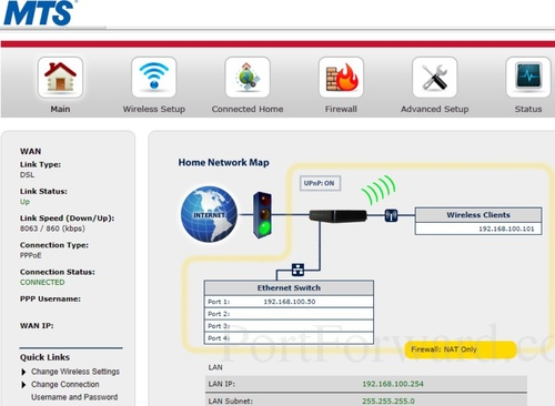 Simple Actiontec GT784WNV Router Port Forwarding