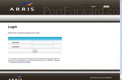 how to find your default gateway username and password