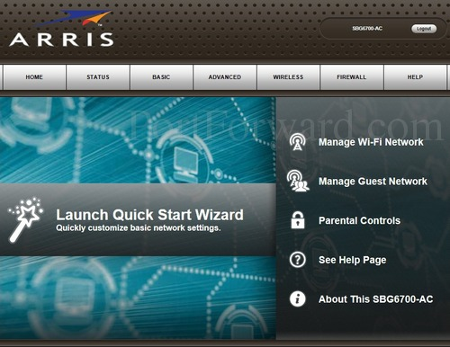 Opening Ports in a Arris SBG6700-AC Router