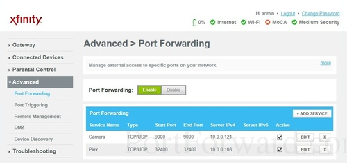 Port Forwarding port forwarding guide for the arris tg1682g router  at readyjetset.co