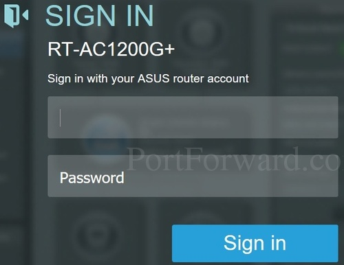 Asus RT-AC1200G Router Open Port Instructions