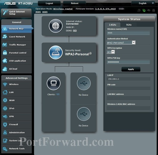 Simple Instructions to Help Setup a Port Forward on the Asus