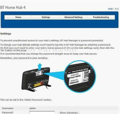 Bt Home Hub  Address