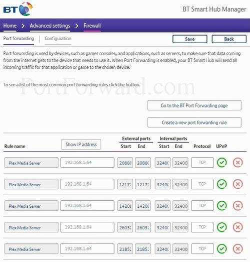 BT Home Hub 6 Router Open Port Instructions