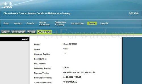 Fastest Cisco DPC3848 Router Port Forwarding Steps