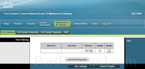 Fastest Cisco DPC3848 Router Port Forwarding Steps