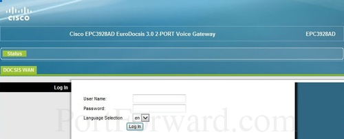 Fastest Cisco EPC3928AD Router Open Port Instructions