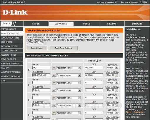 How to create an open port for the dlink dir615 dlink dir 615 screenshot 4 publicscrutiny