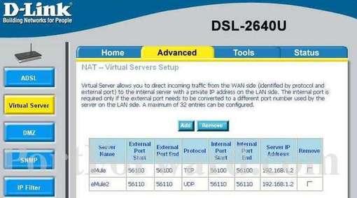 Dsl 2640u виртуальный сервер продвижение корпоративного сайтов спб