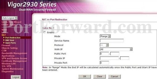 how to open ports in your router