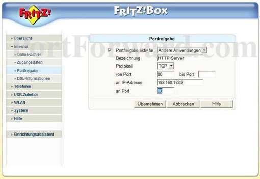 How to open a port on the fritz box sl wlan - Fritz box sl wlan ...