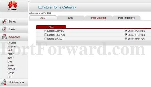 Huawei HG532s Router Port Forwarding Instructions