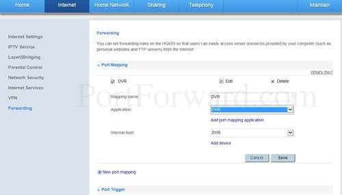 Simple Huawei HG659 Router Port Forwarding Guide