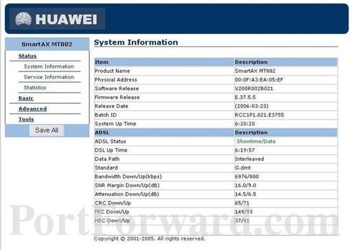 forwarding ports in a huawei smartax mt880 router rh portforward com