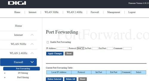 KAON Media DIGI Router Port Forwarding Instructions