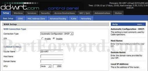 Linksys DD-WRT Router Open Port Instructions