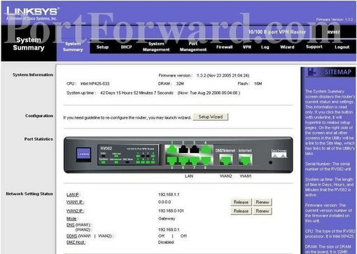 how to open ports on router linksys