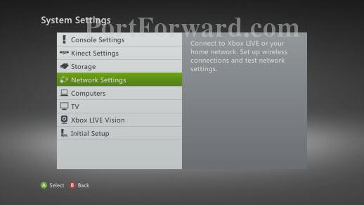 Xbox 360 System Settings Menu