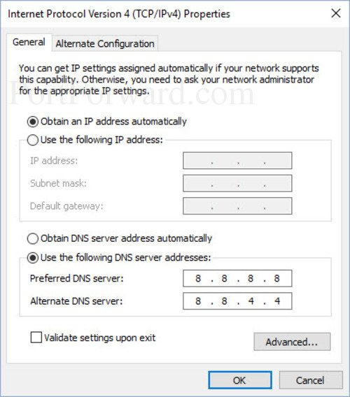 Setting a Static IP Address in Windows 10