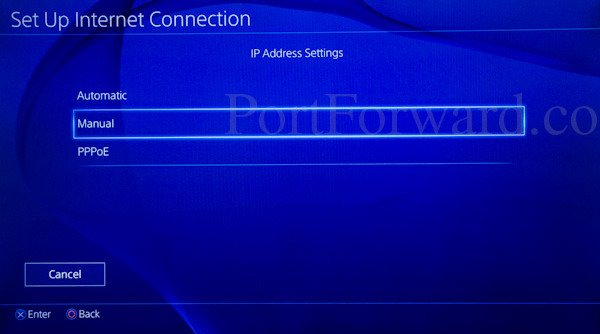 how to change ip address on ps4