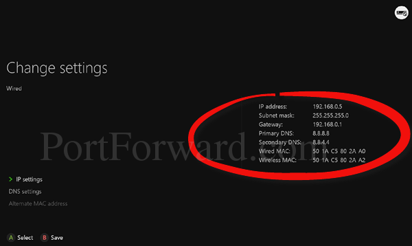 xbox one settings network advanced settings ip settings