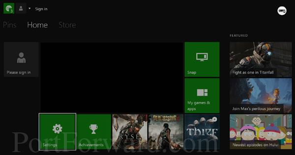 xbox one dashboard settings