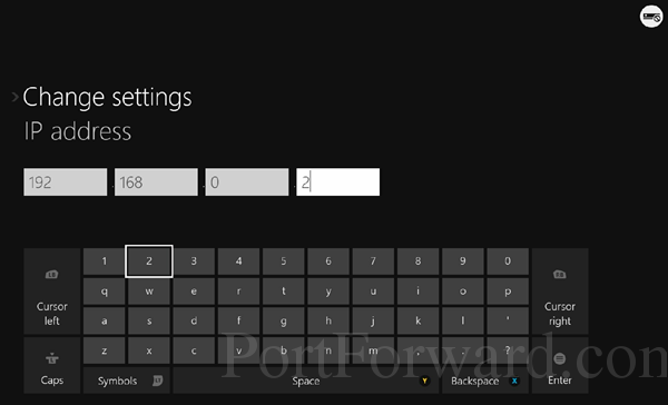 xbox one ip settings manual ip address keyboard