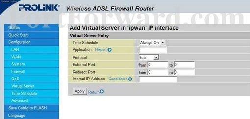 Fastest Prolink H9300G Router Port Forwarding Steps