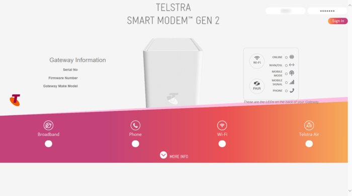 Open Ports on the Telstra Smart Modem Gen 2 Router