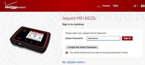 Verizon Jetpack MiFi 6620L Router Open Port Guide