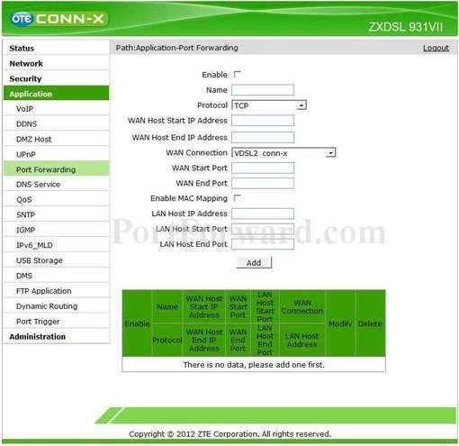 Simple ZTE ZXDSL 931VII Router Open Port Guide