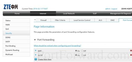 Simple ZTE ZXHN H267N Router Port Forwarding Guide