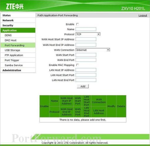 Cyta zte router admin password